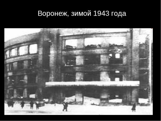 Воронеж, зимой 1943 года