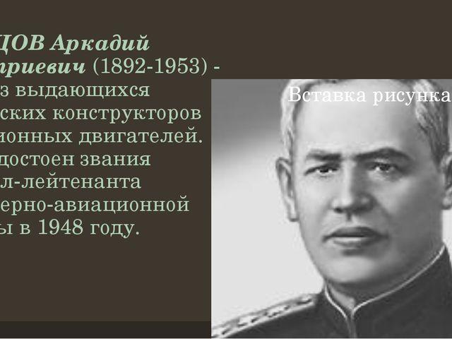 ШВЕЦОВ Аркадий Дмитриевич(1892-1953) - один из выдающихся российских констру...
