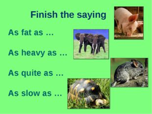 Finish the saying As fat as … As heavy as … As quite as … As slow as …