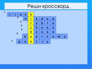 1 2 3 4 5 6 7 С l o c k W i n d o w t a b l e c h e s s h a u s e e b d r o