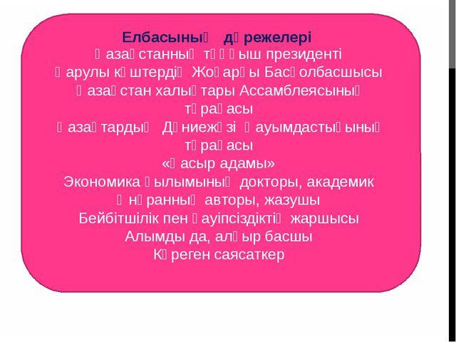 Қазақстанның тұңғыш президенті Қарулы күштердің Жоғарғы Басқолбасшысы Қаза...