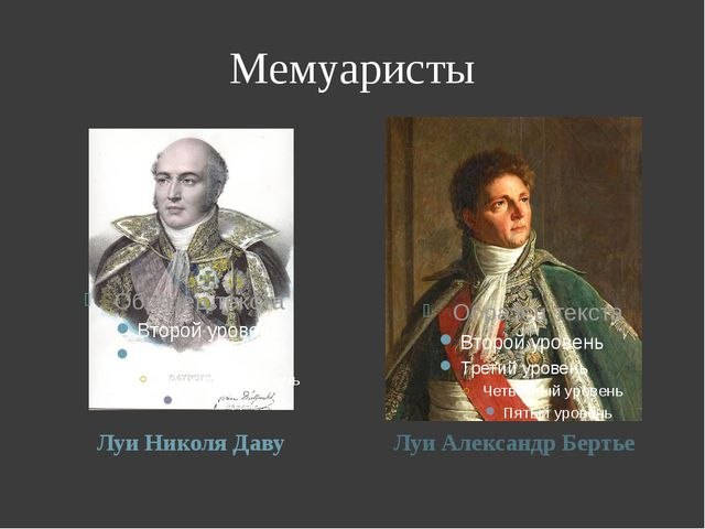 Мемуаристы Луи Николя Даву Луи Александр Бертье