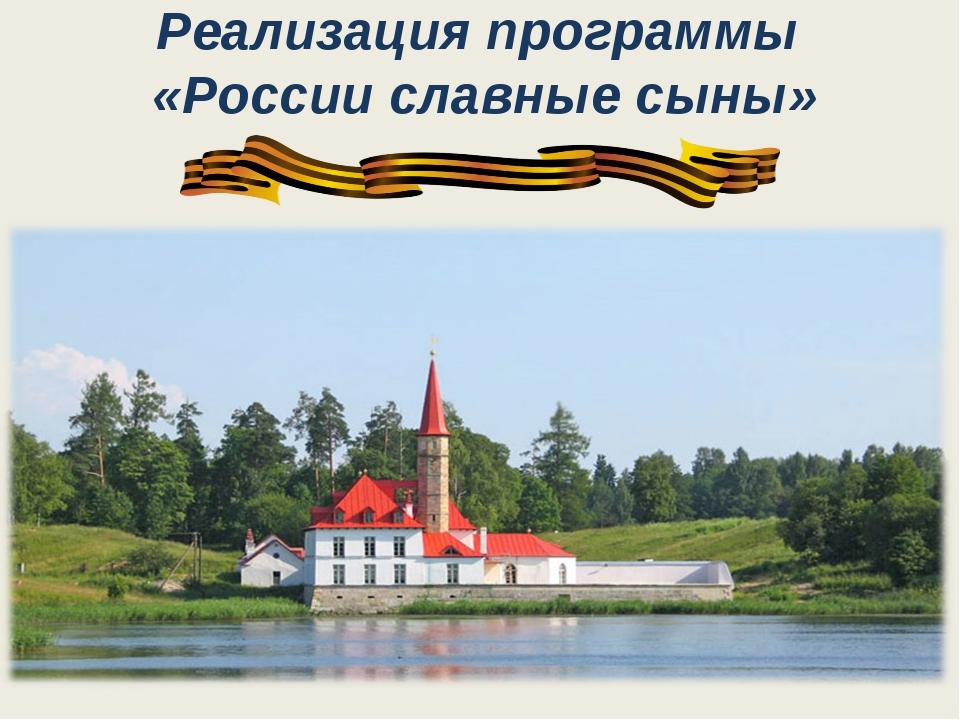 Реализация программы «России славные сыны»