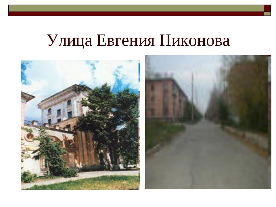 Улица Евгения Никонова