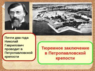 Тюремное заключение в Петропавловской крепости Почти два года Николай Гаврило
