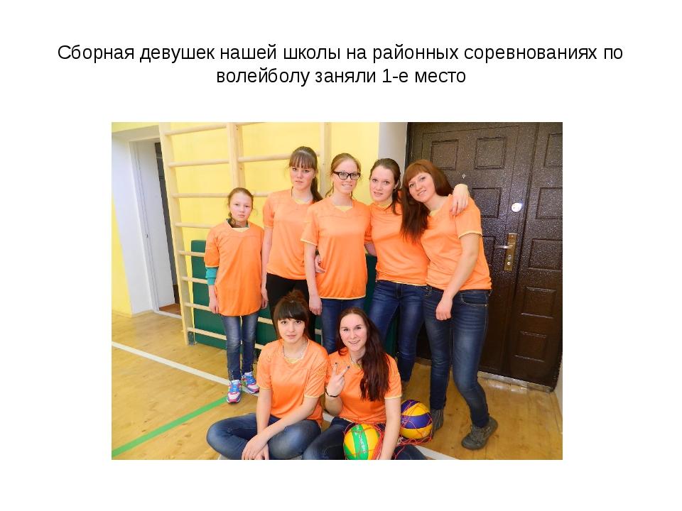 Сборная девушек нашей школы на районных соревнованиях по волейболу заняли 1-е...