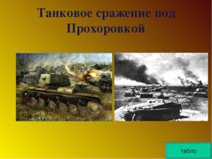 Танковое сражение под Прохоровкой табло табло