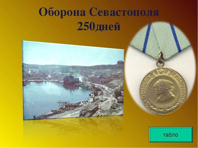 Оборона Севастополя 250дней табло
