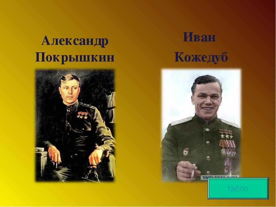 Александр Покрышкин Иван Кожедуб табло