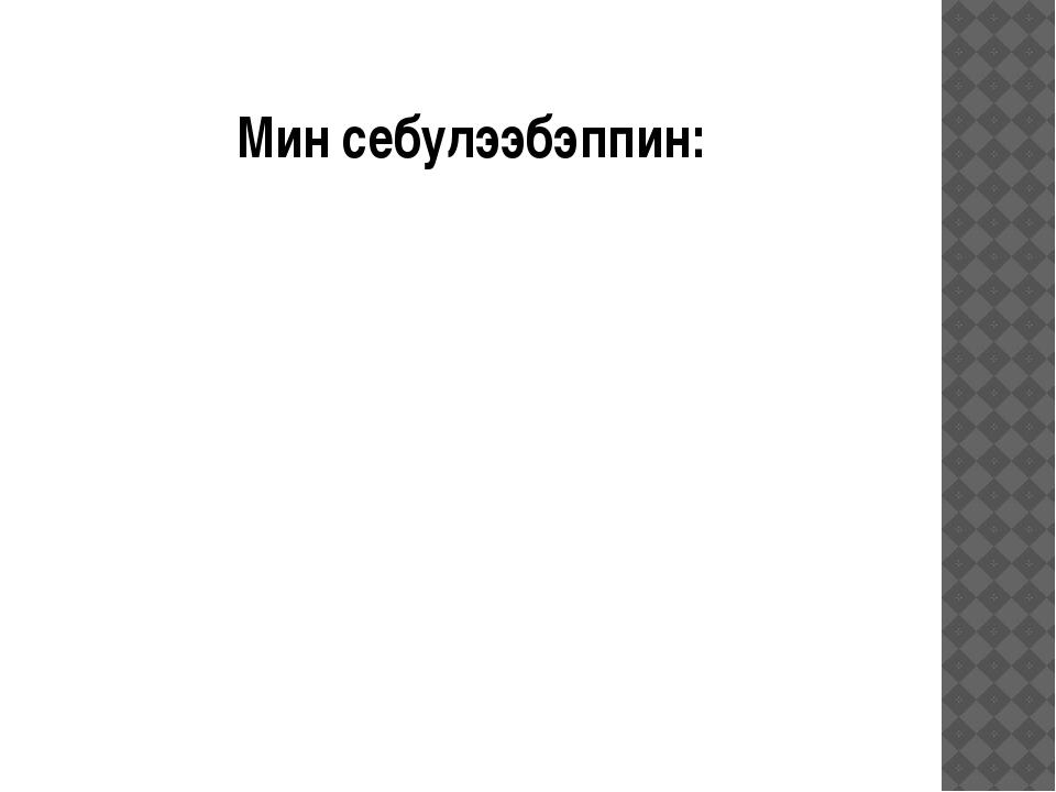 Мин себулээбэппин:
