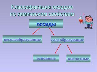 Классификация оксидов по химическим свойствам несолеобразующие солеобразующие