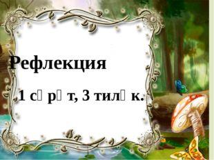 Рефлекция 1 сүрәт, 3 тиләк.