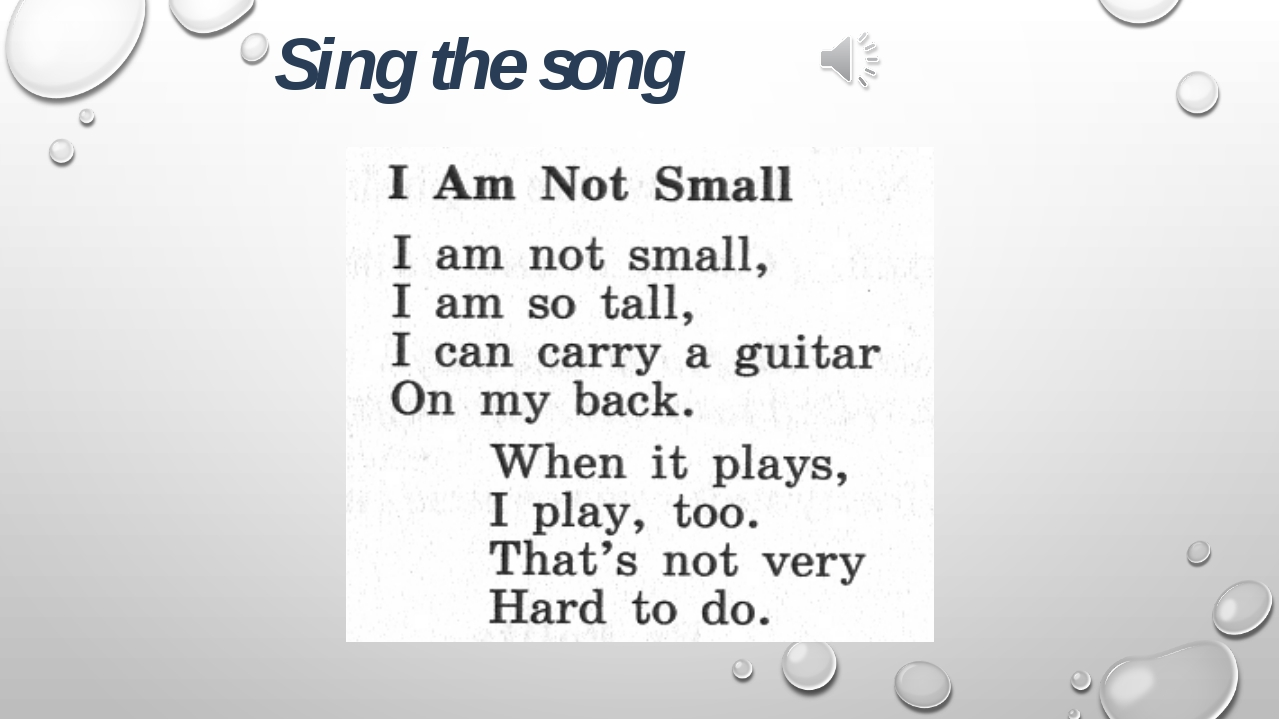 Sing the song