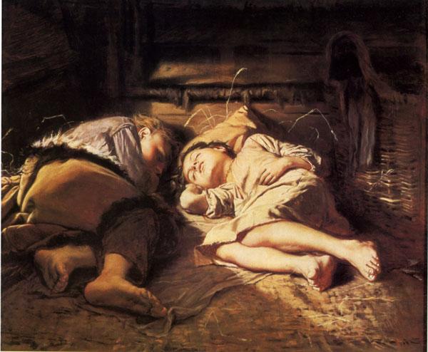 В. Перов. Спящие дети