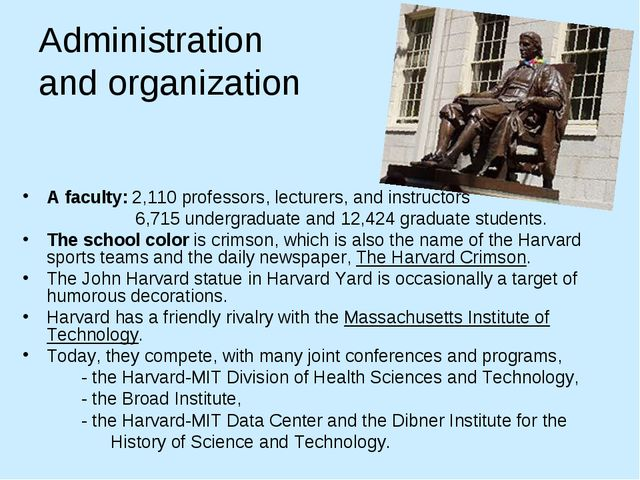 Administration and organization A faculty: 2,110 professors, lecturers, and i...