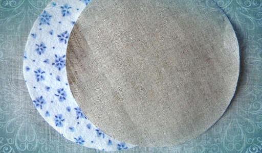 Вырезаем круги нужного диаметра (фото)