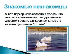 3. Это неразрывно связано с морем. Это явилось компонентом панциря воинов Дре