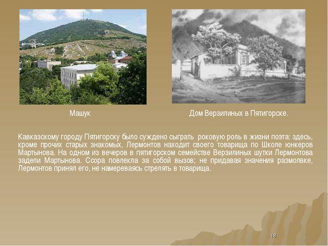 * Машук Дом Верзилиных в Пятигорске. Кавказскому городу Пятигорску было сужде...