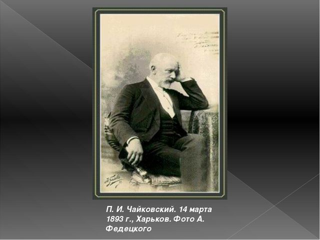 П. И. Чайковский. 14 марта 1893 г., Харьков. Фото А. Федецкого