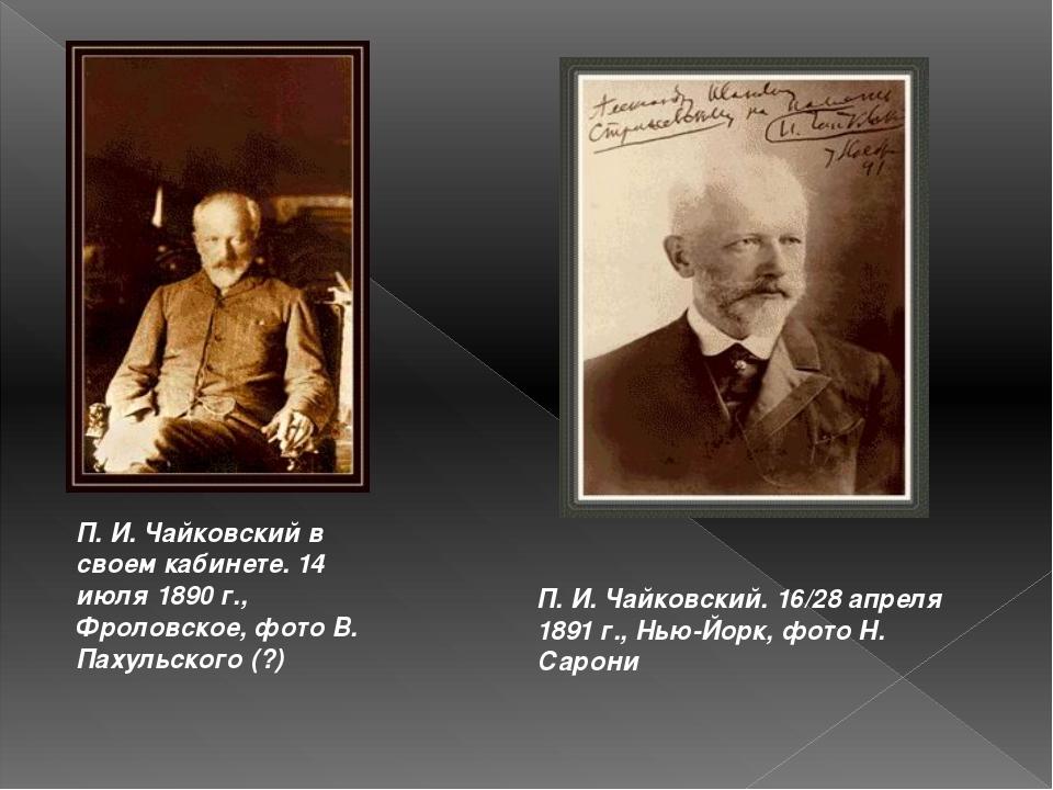П. И. Чайковский в своем кабинете. 14 июля 1890 г., Фроловское, фото В. Пахул...