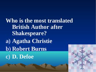 Who is the most translated British Author after Shakespeare? Agatha Christie