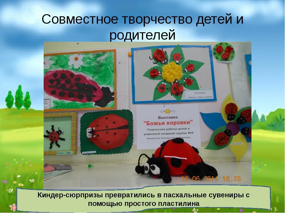 Совместное творчество детей и родителей Киндер-сюрпризы превратились в пасхал...