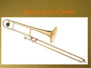 Медные духовые Тромбон