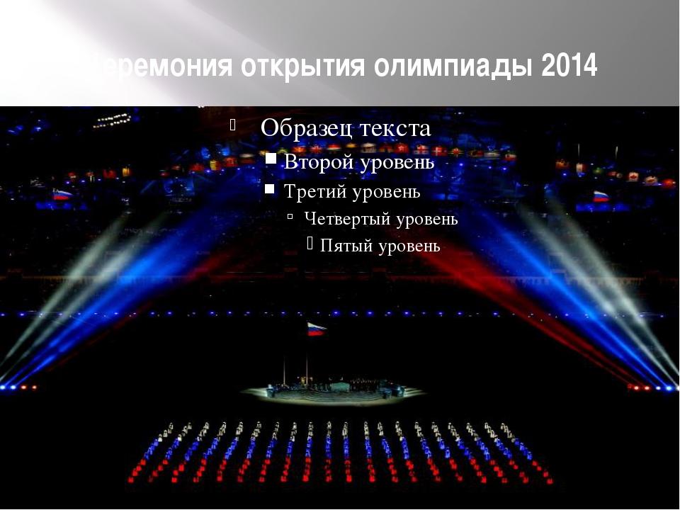 Церемония открытия олимпиады 2014