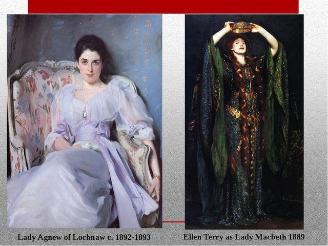 Lady Agnew of Lochnaw c. 1892-1893 Ellen Terry as Lady Macbeth 1889