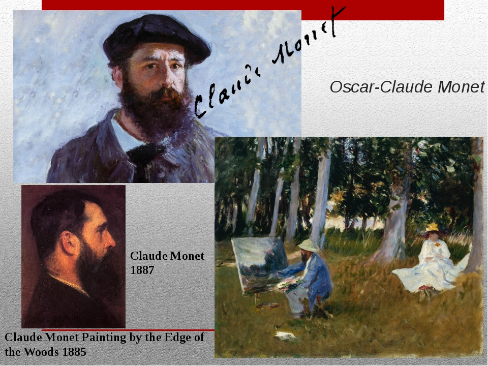 Oscar-Claude Monet Claude Monet Painting by the Edge of the Woods 1885 Claude...