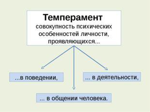 Темперамент совокупность психических особенностей личности, проявляющихся...