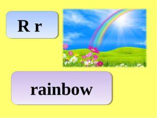 R r rainbow