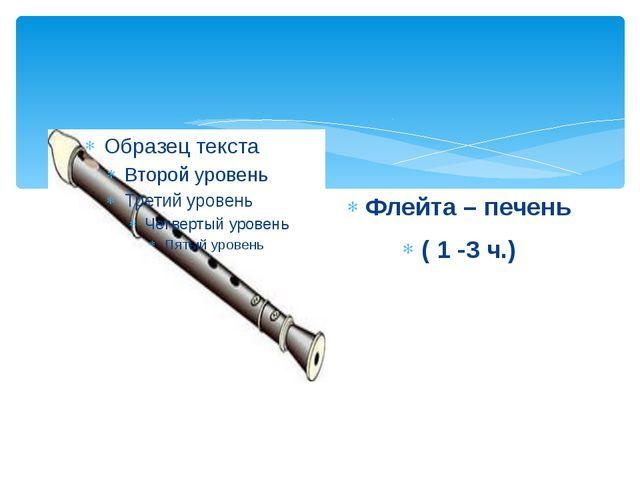 Флейта – печень ( 1 -3 ч.)