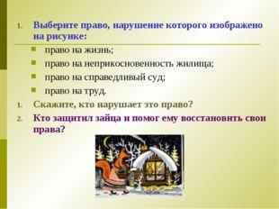 Выберите право, нарушение которого изображено на рисунке: право на жизнь; пра
