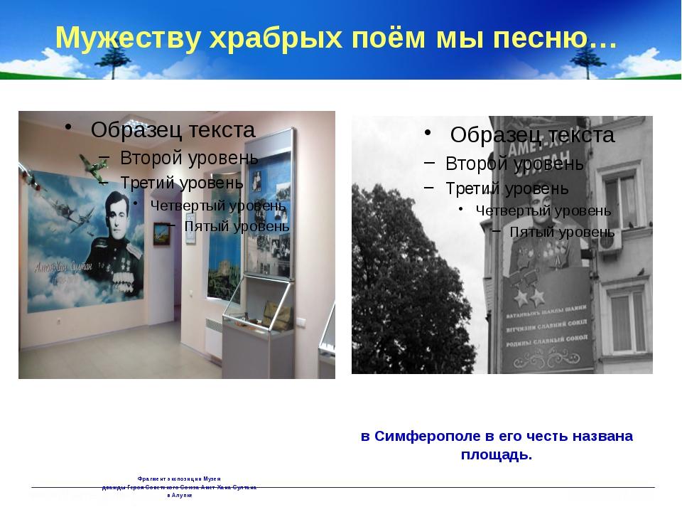 Фрагмент экспозиции Музея дважды Героя Советского Союза Амет-Хана Султана в...