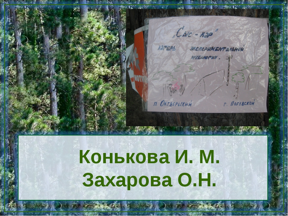Конькова И. М. Захарова О.Н.