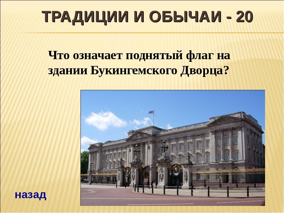 ТРАДИЦИИ И ОБЫЧАИ - 20 Что означает поднятый флаг на здании Букингемского Дво...