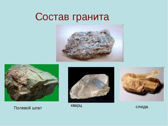 Состав гранита Полевой шпат кварц слюда