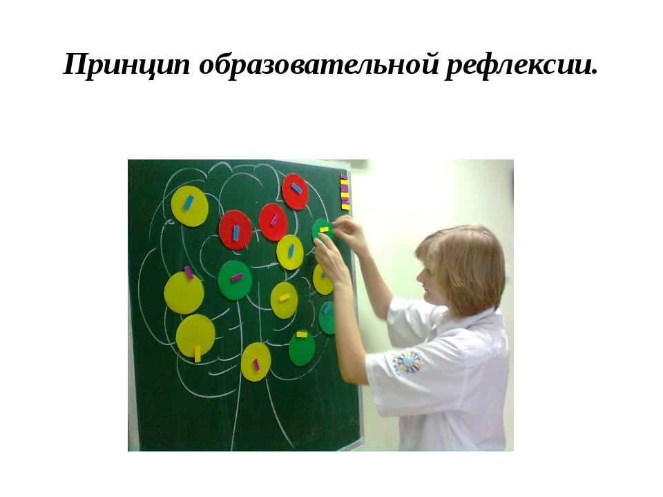 Принцип образовательной рефлексии.