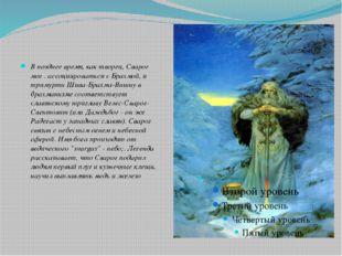 В позднее время, как творец, Сварог мог . ассоциироваться с Брахмой, и триму