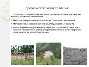 Известня́к— осадочная горная порода органического происхождения Известняк, с