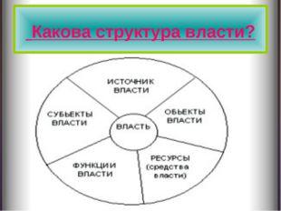 Какова структура власти?