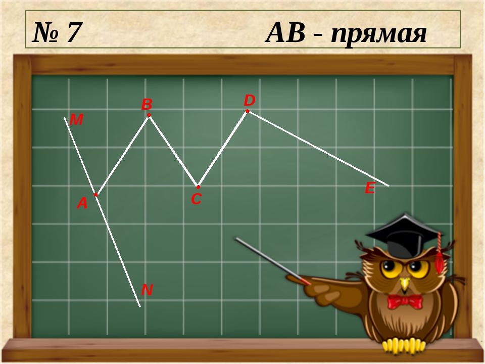 № 7 AB - прямая М N А E D C B
