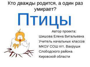 Кто дважды родится, а один раз умирает? Автор проекта: Шишова Елена Витальевн