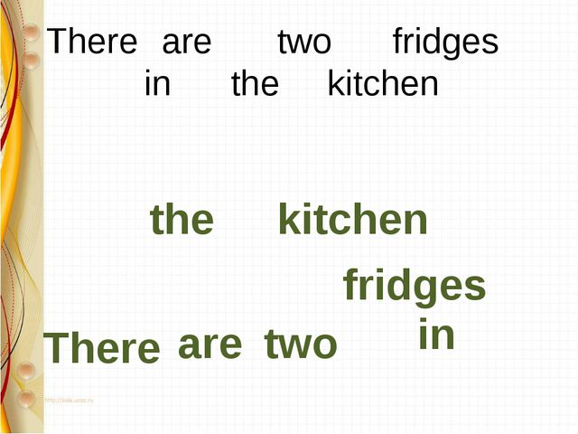 There 	are 	two 		fridges 	in 		the		 kitchen There are two fridges in the...