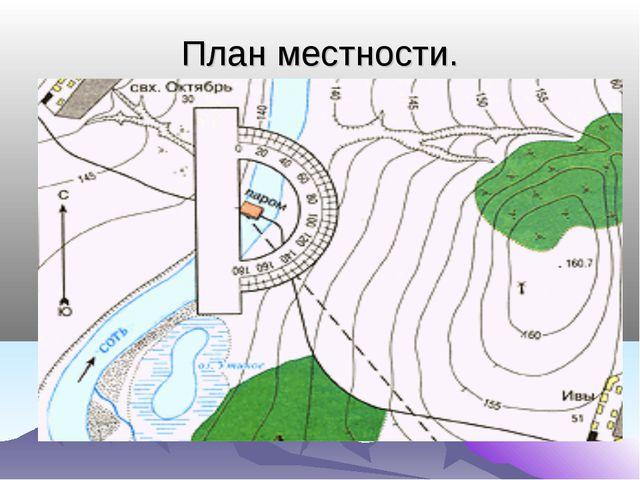 План местности.