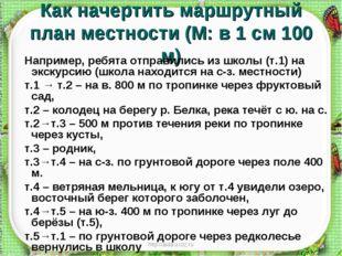 http://aida.ucoz.ru Как начертить маршрутный план местности (М: в 1 см 100 м)