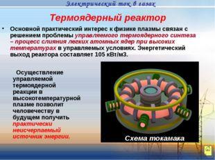 Термоядерный реактор Основной практический интерес к физике плазмы связан с р