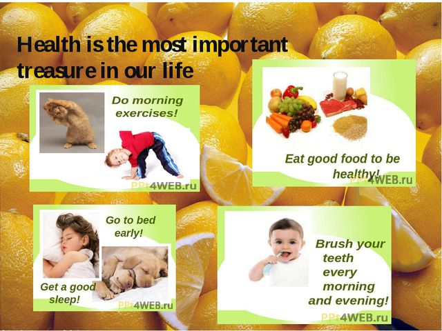 Health is the most important treasure in our life