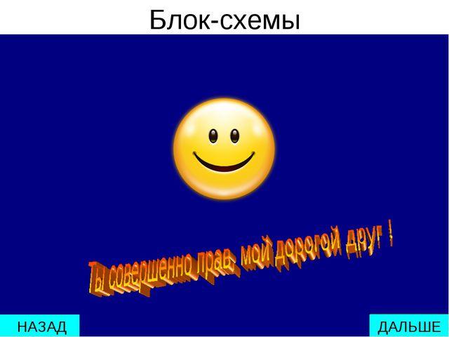 Блок-схемы ДАЛЬШЕ НАЗАД мстпаопаопаоаоаоаопаоароаоаро